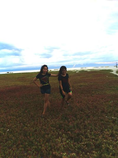 so this is me and my sister 💕 Young Women Full Length Togetherness Sea Friendship Standing Women Water Walking Beach