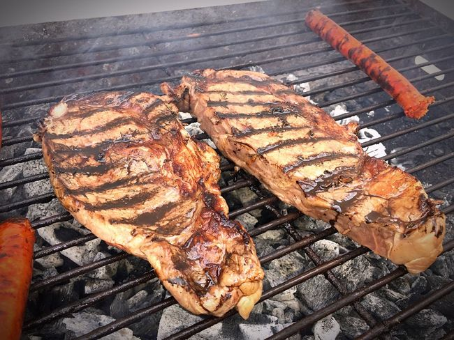 Barbecue Meat Grilled Barbecue Grill Food Food And Drink Freshness Heat - Temperature Rib Meal No People Outdoors Day Ribeye Steak