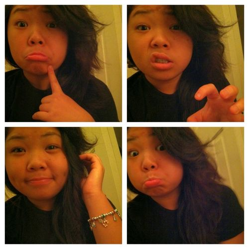 Some of my many awkward faces.