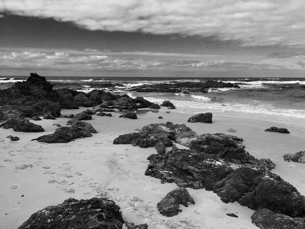 Stradbroke Island Beach Blackandwhite Waves Landscapes With WhiteWall