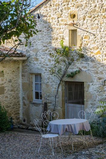 Stone farmhouse in Bordeaux, France Architecture Bordeaux, France Building Exterior Built Structure Day Nature No People Outdoors Tree