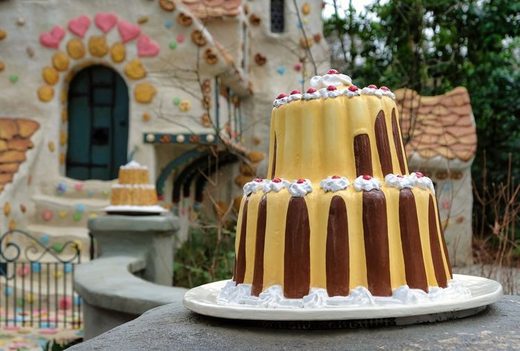 Attraction theme park the Efteling, Kaatsheuvel, the Netherlands. Sweet Food Dessert Food And Drink Sweet Food Focus On Foreground Cake Freshness Indulgence Architecture Baked No People Built Structure Day Temptation Building Exterior Building Unhealthy Eating Nature Close-up