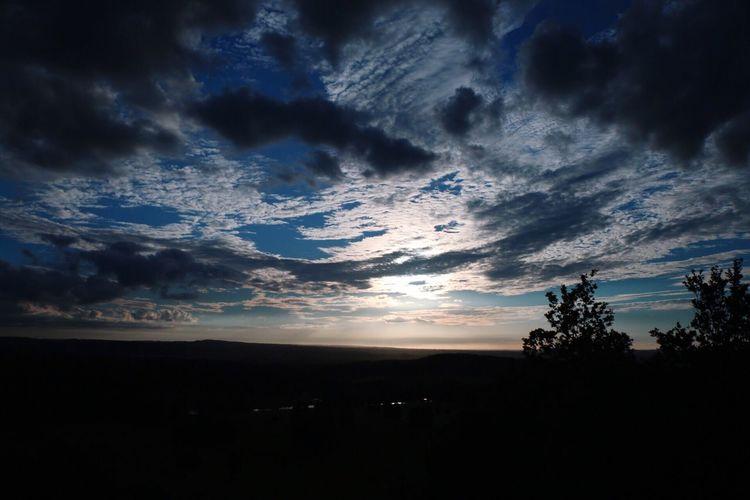 Landscape Horizon Over Land Sunset Sky Clouds