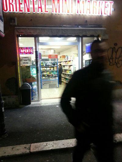 Rome Rome Italy Romestreets Supermarket Night
