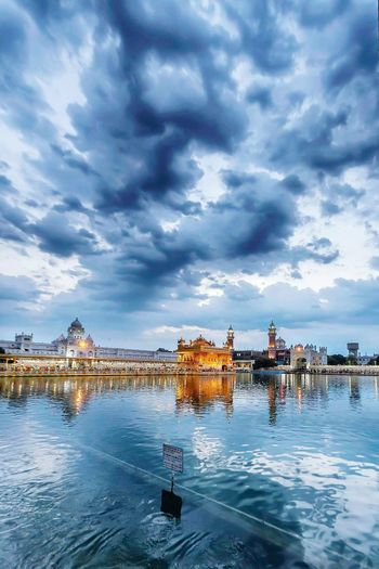 temple Water Nautical Vessel Boat Sky Transportation Cloud - Sky Cloud Waterfront Cloudy Reflection Mode Of Transport Building Exterior Tranquil Scene Day Scenics Blue Tranquility Sea Calm Nature
