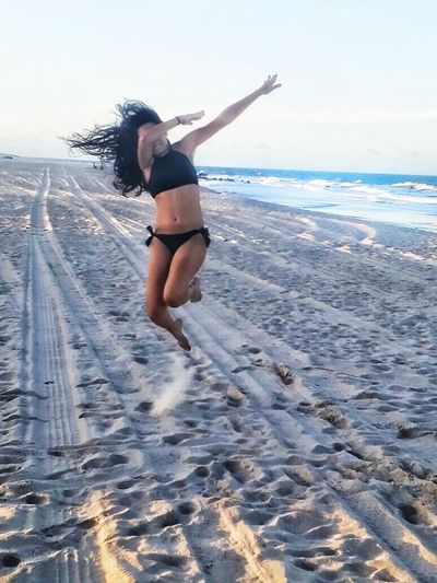 Sea Only Women Vitality People Motion One Person Leisure Activity Beach Water Young Women Horizon Over Water Day