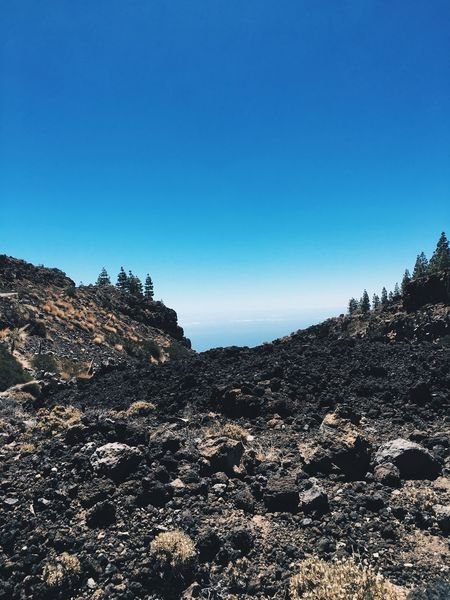 Nature Clear Sky Blue Copy Space Beauty In Nature Tranquil Scene Rock - Object Mountain Day No People Outdoors Tranquility Scenics Landscape Sky VSCO Tenerife