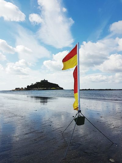Wind, beach and castle. Outdoors Beach No People Travel Photography Taking Photos Water Sky Scenics United Kingdom