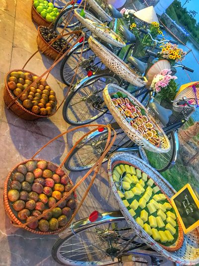 High Angle View Choice Variation Multi Colored No People Food Large Group Of Objects For Sale Food And Drink Fruit Still Life Freshness Basket Outdoors Art And Craft Market