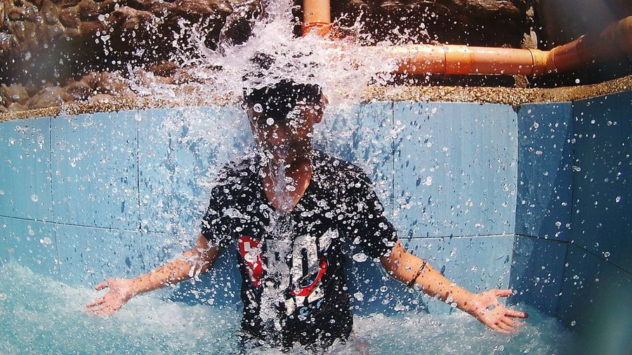 No pain, no gain, no fun.Mix Yourself A Good Time Poolplay Fun Funtime Waterfall Manmade Enjoy Actioncamera Activity Activities People Photography Mission Eyeem Philippines EyeEmMission The Week On EyeEm