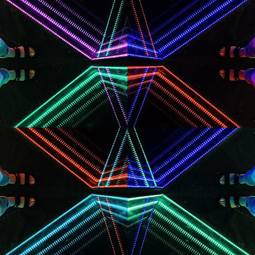 [ What's your DNA? ] EyeEm Gallery From My Point Of View From Where I Stand Neon Neon Lights Illuminated Multi Colored Pattern Glowing Night No People Indoors  Design Abstract Geometric Shape Backgrounds EyeEmNewHere EyeEmNewHere