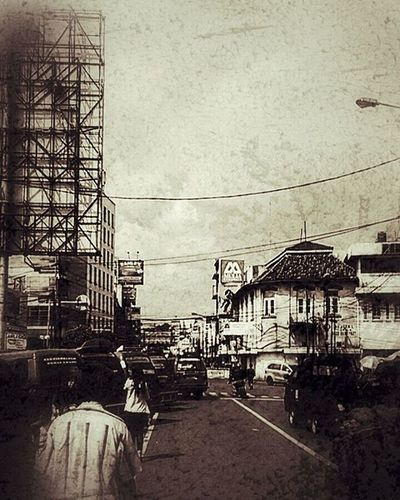 Bandoeng . . . . . . . . . . Street People Busy Cars City Bandung Old New INDONESIA Sepia Grunge Photography XPERIA Xperiaphoto