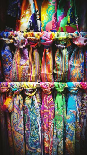 Silkscarf Fashion Colors Stylish