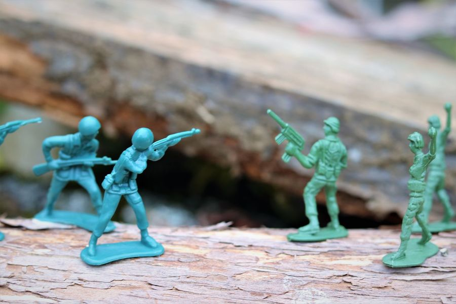 Plastic War Toy Soldiers Adult Concept Armed Forces Battle Child's Play Close-up Creativity Day Figurine  Focus On Foreground Government Green Color Human Representation Male Likeness Military No People Plastic Toys Representation Selective Focus Soldiers Fighting Still Life Toy Turquoise Colored War