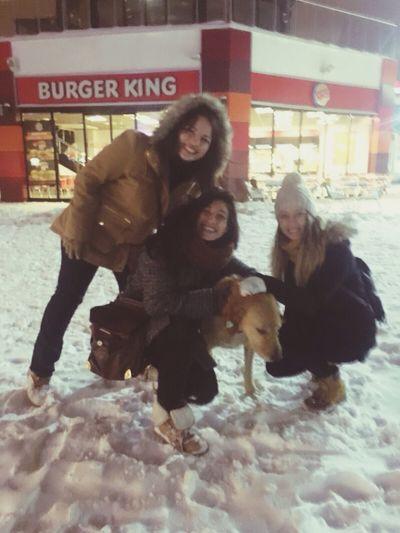 Kar gören masumbalkanlılar