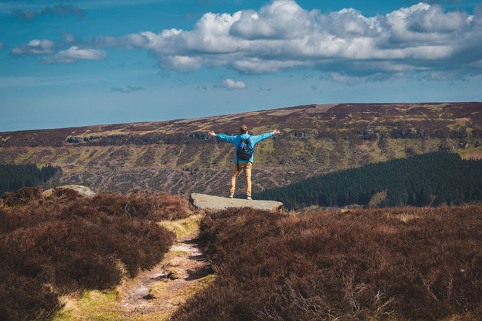 What a view. To see more of my work head to http://www.timothybarkerjr.com/ Adventure Blue Sky Climbing Hi! Hiking Male Model Mountains North Yorkshire On The Edge Path Walking