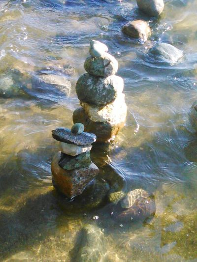 Rock stacking first attempt ever