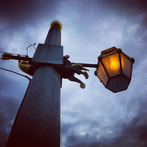 Вместо солнца. день улица фонарь солнце Питер day street sun petersburg saintpetersburg piter instamood