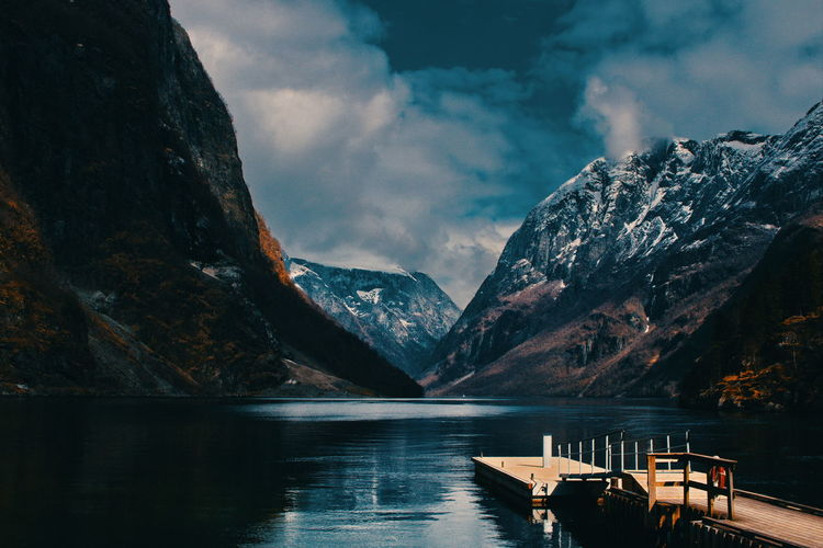 Gudvangen, Norway Mountain Water Sky Cloud - Sky Scenics - Nature Mountain Range Beauty In Nature Tranquil Scene Tranquility Non-urban Scene Nature No People Waterfront Transportation Idyllic Day Nautical Vessel Outdoors Formation Snowcapped Mountain Fjord Norway Scandinavia Travel Destinations Travel Adventure Hiking Gudvangen The Great Outdoors - 2019 EyeEm Awards