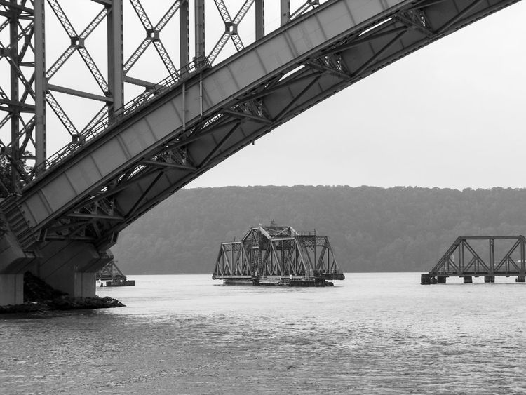 Hudson River Manhattan Swing Bridge Architecture Black And White Photography Bridge - Man Made Structure Built Structure Connection Day Harlem River Industry Nature No People Outdoors Sky Spyton Duyvil Creek Steel Structure  Transportation Water The Architect - 2018 EyeEm Awards
