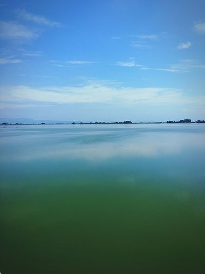 Tranquility Nature Tranquil Scene Beauty In Nature Scenics Reflection Water Day Sky No People Blue Outdoors Blue Sky Driving