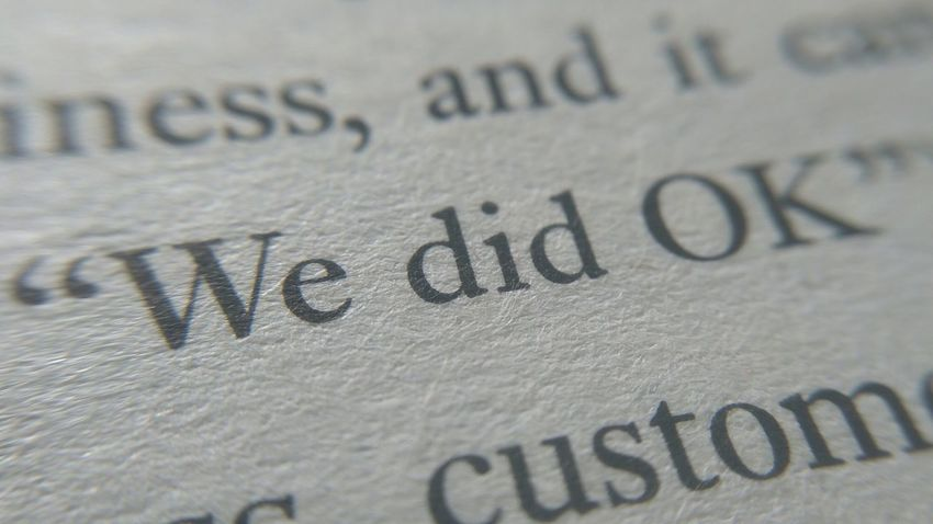 Finance Close-up No People Page Text Cultures Words Word Printed Text Paper Textured  We Did Ok Ok Okay We Did