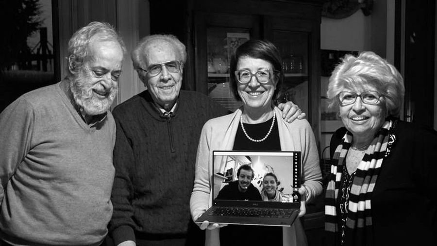 Senior Adult Eyeglasses  Adult Smiling People Men Senior Men Women Family Birthday Blackandwhite Black & White Black And White