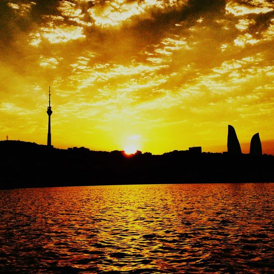 OpenEdit Azerbaijan Flametowers Baku Cloudy Sky Mycapture Eye4photography  Photography Amazing
