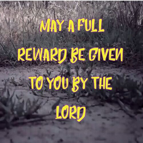 *[[Rth 2:12]] BBE* The Lord give you a reward for what you have done, and may a full reward be given to you by the Lord, the God of Israel, under whose wings you have come to take cover. Reward Lord Bible Ruth God Loyalty Yellow Communication Text Close-up