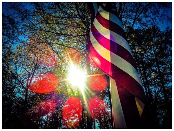 Flag Patriotism Striped Multi Colored No People Close-up Outdoors Sky Day