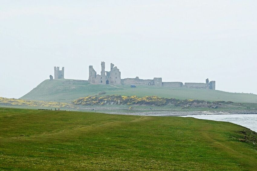 Thrrough the mist Dunstanburgh Dunstanburgh Castle Check This Out Taking Photos EyeEm Best Shots Just Taking Pictures Great Outdoors - 2016 EyeEm Awards