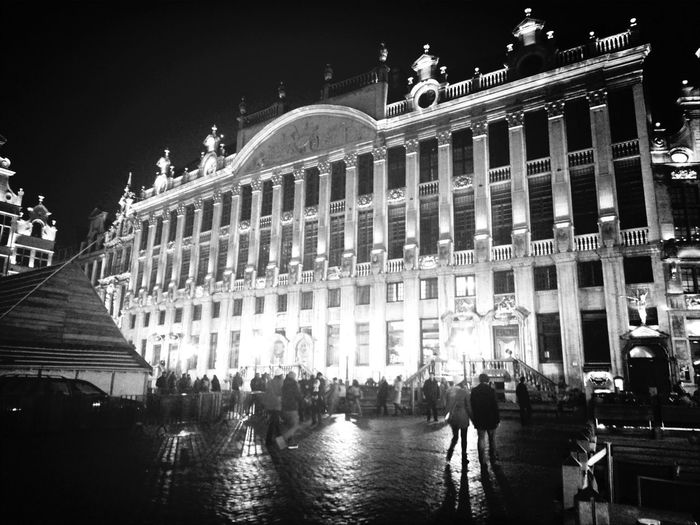 Bruxelles-Capital Bruxelles Central Lagrandeplace ... Blackandwhite
