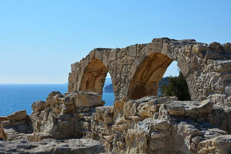 Sea Rock - Object Rock Formation Scenics Geology Beauty In Nature Nature Travel Destinations Sky Vacations Outdoors Beach Landscape Horizon Over Water No People Limestone Day Representing Cyprus