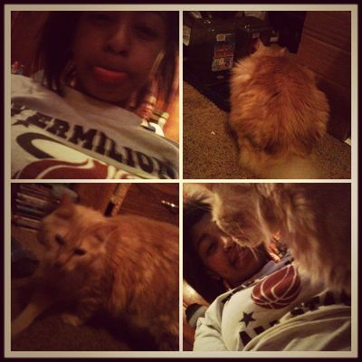 With my cat Tiger (: