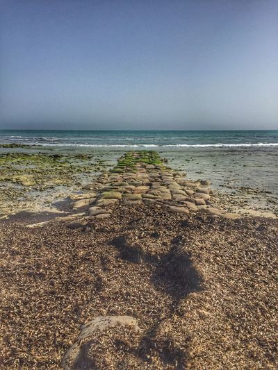Always create pathways to achieve your goals 🌊 شاطئ بحر تونس جربة  Djerba  Tunisie Sea Beach Horizon Over Water Water Nature Sand Tranquility Beauty In Nature Outdoors No People Day Wave Sky Shore Scenics Tranquil Scene Clear Sky
