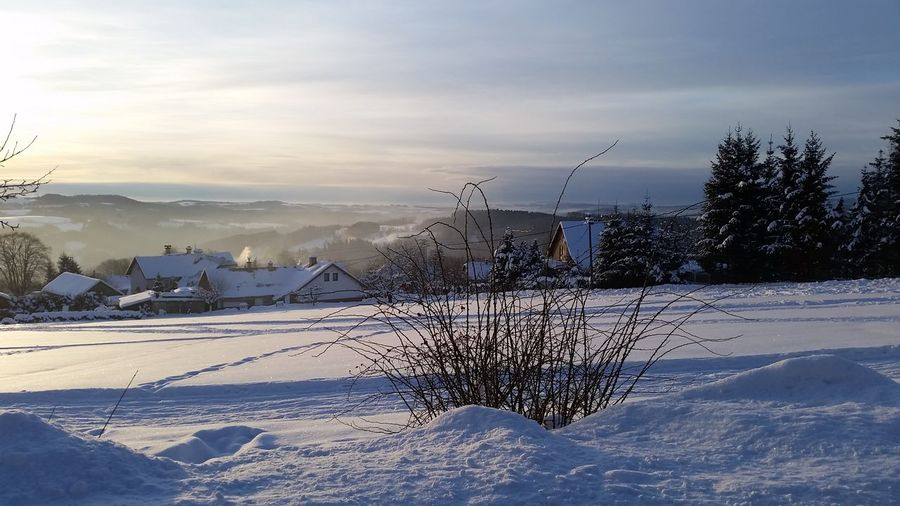 Beauty In Nature Cloud - Sky Cold Temperature Nature No People Snow Tschechien Winter