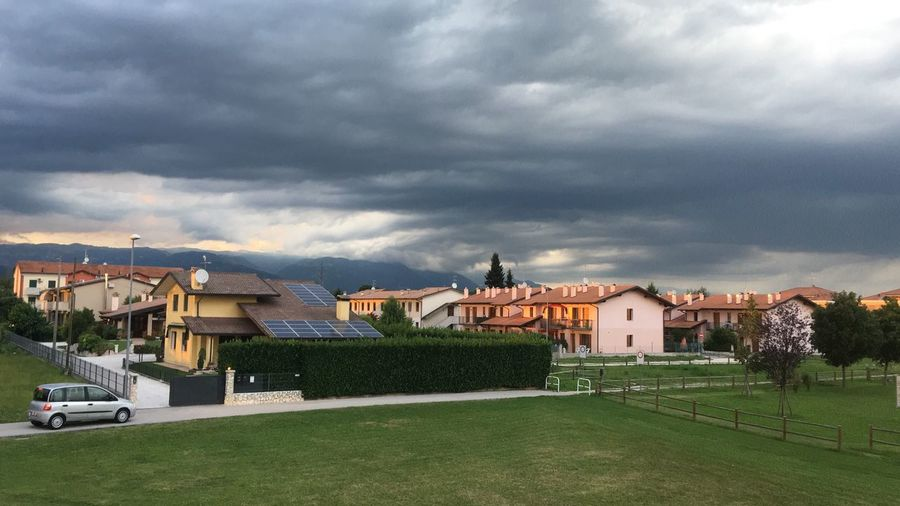Tezze sul Brenta, summer, 2018. Nature Green Color Landscape Home Summer Storm Clouds Stormy Weather Clouds And Sky Cloud Cloud - Sky Italy