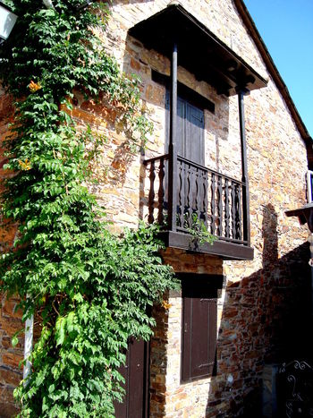 Old stone house Architecture Balcony Beautifully Renovated Building Exterior Door House Ivy Facade Old Old Building  Old Stone Houses Residential Structure