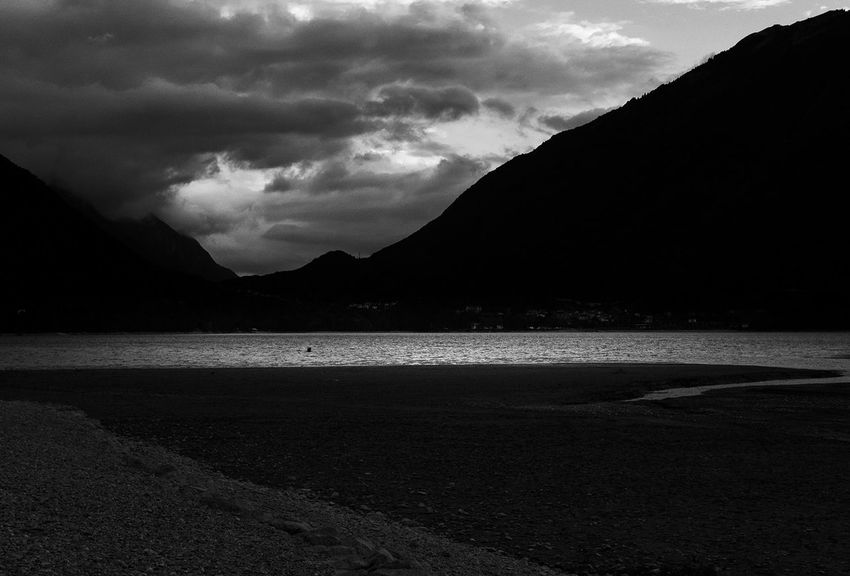 Lago di Santacroce Monochrome Lake Blackandwhite Photooftheday EyeEm Best Shots Mood Black And White EyeEm Nature Lover Place of Heart EyeEmBestPics Dream Outdoors Light And Shadow Autumn No People EyeEm Selects darkness and light Nature Silhouette Storm Cloud Beach Social Issues Landscape Dramatic Landscape Holiday Moments