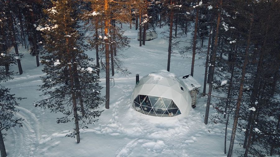 Auroradomes Dome Winter Snow Cold Temperature Weather Nature Frozen Blizzard Landscape Scenics Outdoors