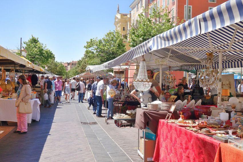 France Nice Côte D'Azur Antiques Market