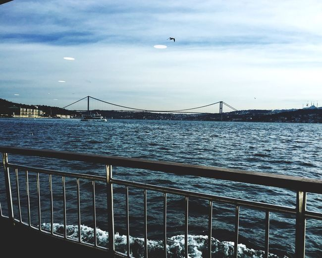 Istanbul Turkey Istanbul City IPhoneography Istanbullovers Bosphorus Istanbul Bridge Sea Sea And Sky Bridge View Bridgeporn Iphone6s