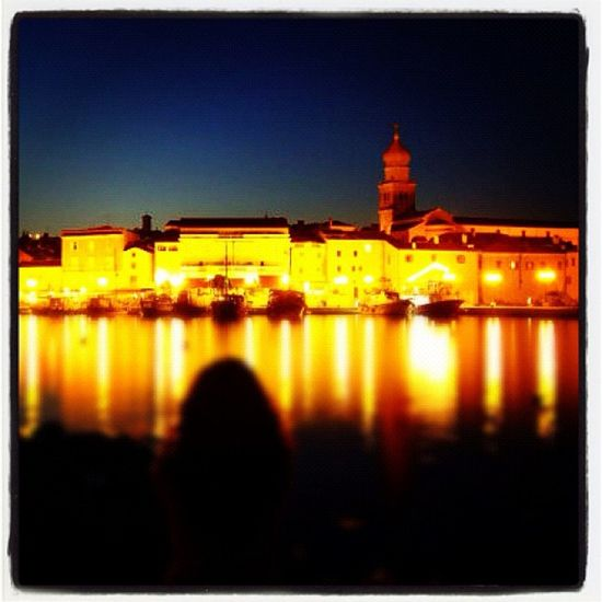 Instagram Sea Krk  Gradkrk Otokkrk Summer Croatia Hrvatska Church Night