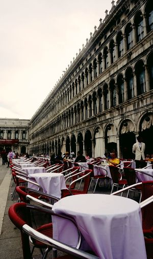 Architecture Arrangement Built Structure Chair Day History Outdoors People Sky Table Table And Chairs Table Arrangements Tables
