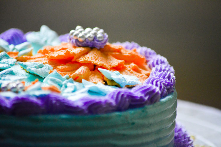 Art And Craft Blue Cake Close-up Day Evening Icing Indoors  Multi Colored Neon Color No People Orange OrissaDiaries Roses