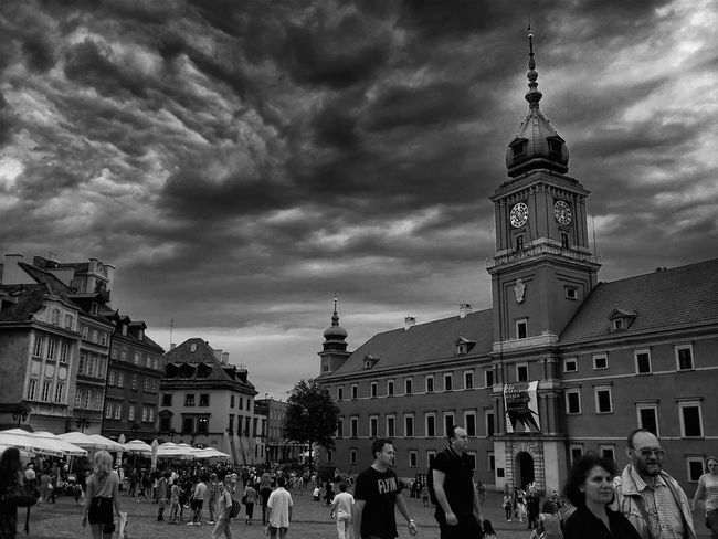 Warszawa  City Monochrome Cloud Porn
