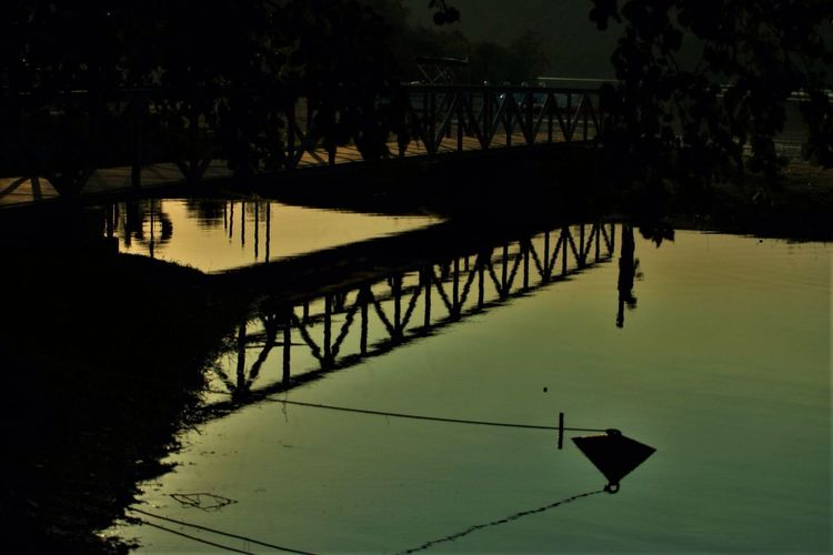 Bridge Silhouette Outdoors Tree Waterfront Nature Beauty In Nature first eyeem photo