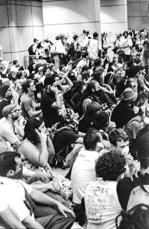 Protests at the 2008 Democratic National Convention (DNC) 2008 Democratic National Convention Black & White Film Protest Audience Black And White Black And White Photography Blackandwhite Blackandwhite Photography Civil Disturbance Crowd Day Film Photography Indoors  Large Group Of People Men People Protesters Tri-x 400 Pushed Women