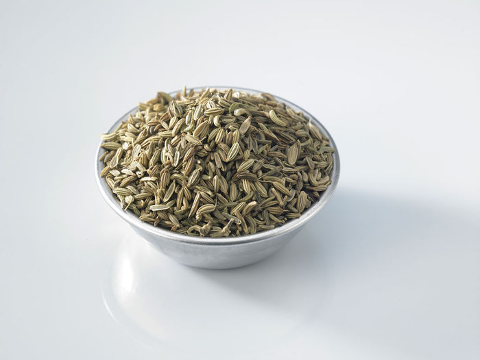 close up of the bowl cumin seeds Spice Seed Cumin Ingredient Medicine Seasoning Scented Aromatic Food Food And Drink Indian Food Condiment Healthy Eating Dried Food Flavor No People Container Studio Shot Still Life Wellbeing White Background Bowl Raw Food Freshness Cut Out