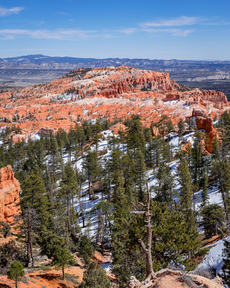 Bryce canyon national park, Utah, USA Bryce Rock Formation Trees USA Utah Beauty In Nature Bryce Canyon National Park Environment Landscape Mountain No People Rock Scenics - Nature Sky Snow Solid Tranquil Scene
